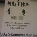 AD reklamblad baksida - Rösta själv eller via en delegat