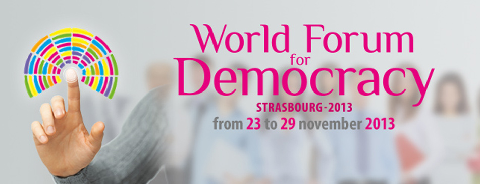 World Forum for Democracy Strasbourg 2013. Flytande demokrati, Liquid Democracy.